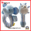 Safety Soft Plush Blue Elephant Baby Rattle Toys for Infants