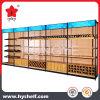Wooden and Metal Wine Supermarket Display Shelf