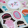 Removable Vinyl Stickers Die Cut Label Window Decals for Kids