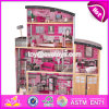 New Style 30 Furniture Pieces Children Pretend Play Wooden Giant Doll House W06A222