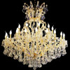 Italian Classic Luxury Golden Color Maria Theresa Crystal Chandelier Fancy LED Hanging Pendant Lamp Lighting for Wedding Banquet Hall