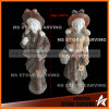 Colorful Natural Stone Carving Children for Garden Decoration 80cm