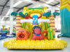 Aoqi Design Inflatable Jungle Animal Slide