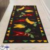 New High Quality Handmade Rectangle Shape Washable Carpet Short Hair Mat Cartoon Art Rug Kitchen Floor Mats Welcome Doormat