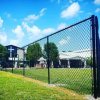 China Supply Vinyl Playground Black Coated Chain Link Fence.
