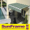Green Retractable Aluminium Remote Control Awning