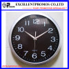 Silver Frame Logo Printing Round Plastic Wall Clock (Item12)