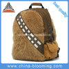 Removable Hood Plush Furry Toddler Boy Backpack Student School Bag