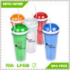 Hot Sale BPA Free Plastic Snack Cup with Straw