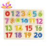 2018 New Hottest Educational Wooden Number Puzzle for Children W14b098