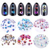 Ab Colorful Nail Art Rhinestones 3D Tiny Glitter Nail Tips Decorations