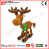 Christmas Stuffed Moose Animal Plush Standing Reindeer Toy with Scarf