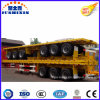 3BPW Axles Flatbed Container Truck Semi Trailer with Tri Axle