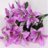 Magic Touch Faux Silk Lily Green Goddess Lily Bulbs Artificial Lily Flowers in Vase Artificial Flame Lily Faux Lily Flowers