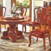 Round Dining Table with Sofa Chair for Dining Room Furniture
