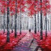 Reproduction Aluminum Panel Art Painting for Trees