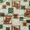 Golden Metallic Printed Cotton Fabric for Christmas Ornament, Party Decoration