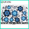 Client′s Wanting Shape, Heat Transfer Film for Plastic, Blue Flower