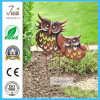 Set of 2 Metal Owl Garden Decoratioin