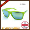 F15334 Plastic Sunglasses with Mirrored Lens for Man
