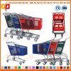 Wheel Grocery Cart Compact Wire Metal Supermarket Shopping Trolley (Zht213)