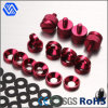 Aluminium Alloy Riveting Bolt Red Anodized Set Screw