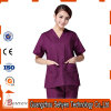 Ladies′ Slim Scrubs of Medical Uniform with Short Sleeve