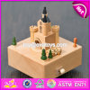 Customize Cartoon Castle Wooden Music Boxes for Children W07b046