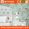PVC Deep Embossed Floral Wallcovering for Walls