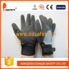 Ddsafety 2017 Grey T/C Shell Black Nitrile Adjustable Wrist Work Glove