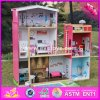 2017 Wholesale Girls Uptown Dollhouse, Modern Size Wooden Uptown Dollhouse, Wood Uptown Dollhouse with Furniture W06A152