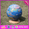 2017 Wholesale Wooden Globe Toy, Newly Wooden Globe Toy, Children Wooden Globe Toy W14G038