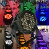 High-Brightness 18X12W RGBWA+UV 6in1 Stage LED PAR Can Light