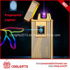 High Quality Metal Fingerprint electric USB Charged Dual Arc Lighter