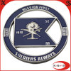 Customized Metal Silver Army Coins for Collection