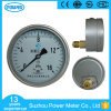 100mm Lower Back Mount Liquid Filled Pressure Gauge
