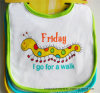 China Supplier OEM Produce Customized Friday Printed Cartoon Cotton Baby Bib
