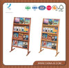 4-Tiered Literature Stand for Floor with Open Shelving
