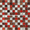 Gold Foil Crystal Glass Mosaic Tile (HGM232)