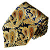 New Fashion Gold Colour Paisley Design Woven Silk Neckties