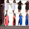 Fat Women Maxi Casual Party Prom Plus Size Dress (TMKF8163)