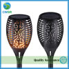 Rechargeable Waterproof 51LED Solar Panel Fire Flickering Dancing Flame Bright Torch Light for Garden Pathway