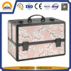 Purple Sakura Carrying Aluminum Makeup Case (HB-6311)