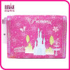 Soft Nylon Fairy Tale Pattern Tri Fold Kids Wallet Hot Pink Gift for Holiday Birthday