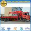 Dongfeng 6X4 Heavy Duty Lorry Loadingturck Mounted with 12t Crane Truck
