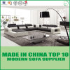 Modern Modular Furniture Italian Leather Sofa with LED Lights