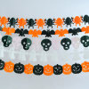 Halloween Decoration Tissue Paper Garland, Bat/Spider/Pumpkin/Wizard Garland