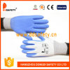 Ddsafety 2017 Nylon Blue PU Coated Glove Safety Gloves