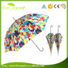 Hot Selling Customized Logo Printing Multicolored Patio Parasol Straight Umbrella