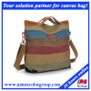 Ladies Designer Fashion Multi-Color Canvas Tote Bag